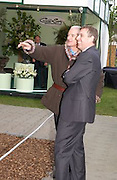 James Dyson and Prince Andrew, Chelsea Flower Show. 19 May 2003. © Copyright Photograph by Dafydd Jones 66 Stockwell Park Rd. London SW9 0DA Tel 020 7733 0108 www.dafjones.com