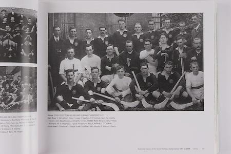 "Cork (Selection) All-Ireland Hurling Champions 1919. Back Row: S McCarthy, E Grey, C Lucey, C Sheehan, R O'Gorman, Sean Og Murphy, J Hassett, John Barry Murphy, J O'Keeffe, T Irwin. Middle Row: Barry Murphy, P Healy, J Kennedy, Fr E Fitzgerald, J ""Spud"" Murphy, D Ring, F Kelleher, J O'Callahan. Front Row: P O'Hallaran, T Nagle, Eudie Coughlan, Mick Murphy, P Aherne, F Barry."