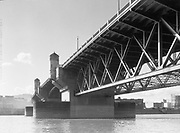 9969-1079. Burnside Bridge from the east end. March 22, 1933.