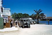 Buses to San Antonio, San Antonio, island of Ibiza, Balearic Islands, Spain, 1950s