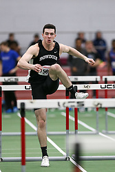 Joseph Staudt, Bowdoin, 60HH final<br /> Boston University Athletics<br /> Hemery Invitational Indoor Track & Field