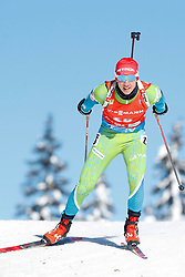 Miha Dovzan of Slovenia competes during the IBU World Championships Biathlon Men Pursuit competiton, on February 14, 2021 in Pokljuka, Slovenia. Photo by Vid Ponikvar / Sportida