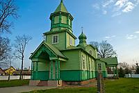 Narew, woj podlaskie, 09.11.2008. N/z drewniana cerkiew z konca XIX wieku fot Michal Kosc / AGENCJA WSCHOD