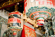 Malaysia, Georgetown. Lanterns in Kho Khongsi, one of the most impressive Chinese temples in Penang.