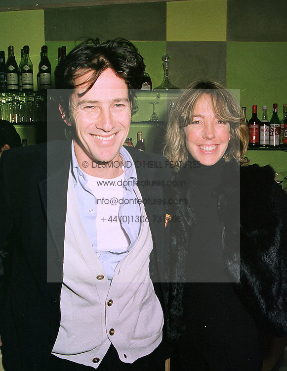 MR COSMO FRY and MISS LULU ANDERSON,  at a party in London on 12th January 1999.MND 34<br /> <br /> NON EXCLUSIVE - WORLD RIGHTS