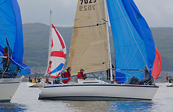 Largs Regatta Week 2015, hosted by Largs Sailing Club and Fairlie Yacht Club<br /> <br /> GBR7029, Farr E Nuff, Farr 727, John Kent<br /> <br /> Credit Marc Turner