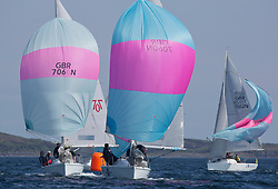 Sailing - SCOTLAND  - 25th-28th May 2018<br /> <br /> The Scottish Series 2018, organised by the  Clyde Cruising Club, <br /> <br /> First days racing on Loch Fyne.<br /> <br /> Hunter 707 with GBR7060N, Seaword, Dara O'Malley, PEYC and GBR7037N, Blue Funk, Neil McLure, Port Edgar YC, Hunter 707<br /> <br /> Credit : Marc Turner<br /> <br /> <br /> Event is supported by Helly Hansen, Luddon, Silvers Marine, Tunnocks, Hempel and Argyll & Bute Council along with Bowmore, The Botanist and The Botanist