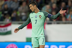 September 3, 2017 - Budapest, Hungary - Cristiano Ronaldo of Portugal disappointed during the FIFA World Cup 2018 Qualifying Round match between Hungary and Portugal at Groupama Arena in Budapest, Hungary on September 3, 2017  (Credit Image: © Andrew Surma/NurPhoto via ZUMA Press)