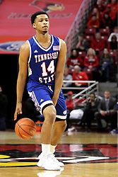 22 December 2015: Darreon Reddick(14). Illinois State Redbirds host the Tennessee State Tigers at Redbird Arena in Normal Illinois (Photo by Alan Look)