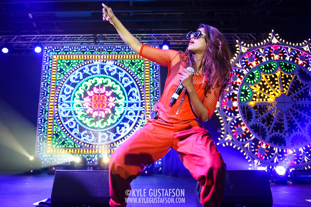 WASHINGTON, DC - APril 27th, 2014 - M.I.A. performs at Echostage in Washington, D.C. M.I.A. released her fourth album, Matangi, in November 2013. The album reached number one on the Billboard Dance/Electronic Albums chart. (Photo by Kyle Gustafson / For The Washington Post)
