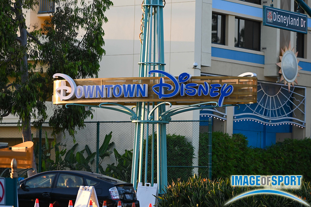General overall view of Downtown Disney signage Tuesday, Sept. 22, 2020, in Anaheim, Calif. (Dylan Stewart/Image of Sport)