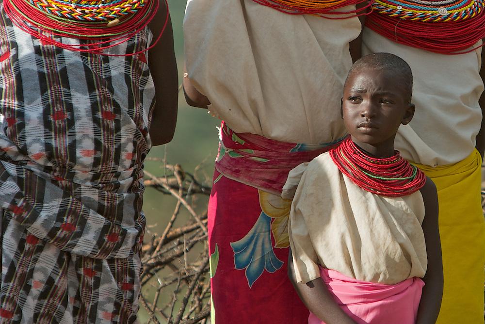 A young, married Samburu girl