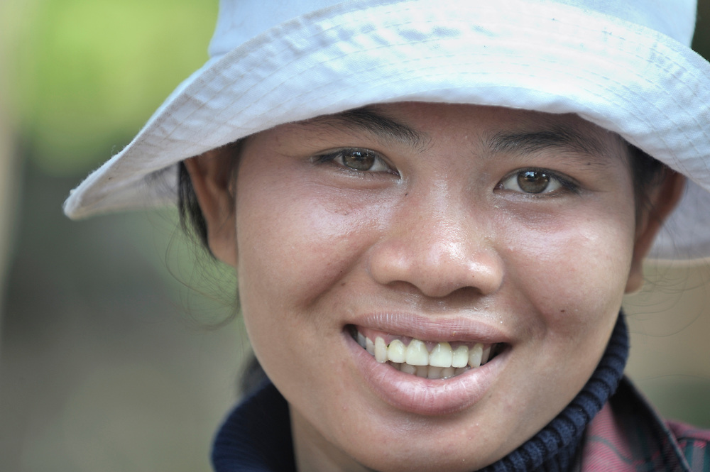 A woman in Khnach, a village in the Kampot region of Cambodia.
