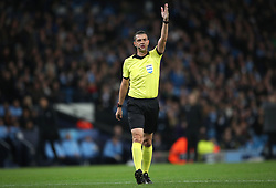 Referee Viktor Kassai during the game