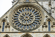"""South transept rose window. York Minster, built over 250 years 1220-1472 AD, is one of the finest medieval buildings in Europe. Also known as St Peter's, its full name is """"Cathedral and Metropolitical Church of St Peter in York,"""" located in England, United Kingdom, Europe. York Minster is the seat of theArchbishop of York, the second-highest office of the Church of England.""""Minster"""" refers to churches established in the Anglo-Saxon period as missionary teaching churches, and now serves as an honorific title.York was founded by the Romans as Eboracum in 71 AD. As the center of the Church in the North, York Minster has played an important role in great national affairs, such as during the Reformation and Civil War."""