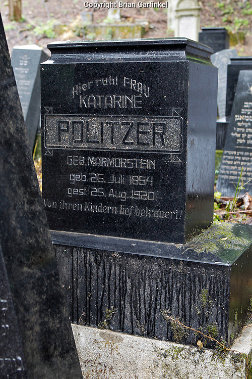 The grave stone of my Great-Great Grand mother in Povazka Bystrica, Slovakia on Sunday July 3rd 2011. (My Mom's (Judy), Father's (Otto), Dad's Parents) (Photo by Brian Garfinkel)
