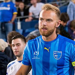 BRISBANE, AUSTRALIA - SEPTEMBER 20: Justyn McKay of Gold Coast City walks out during the Westfield FFA Cup Quarter Final match between Gold Coast City and South Melbourne on September 20, 2017 in Brisbane, Australia. (Photo by Gold Coast City FC / Patrick Kearney)