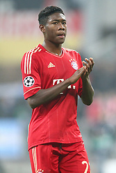 02.11.2011, Allianz Arena, Muenchen, GER, UEFA CL, FC Bayern Muenchen vs. SSC Neapel, im Bild David Alaba (Bayern #27) feiert den Sieg // during the CL match  FC Bayern Muenchen (GER)  vs.  SSC Neapel  (ITA) Gruppe A, on 2011/11/02, Allianz Arena, Munich, Germany, EXPA Pictures © 2011, PhotoCredit: EXPA/ nph/  Straubmeier       ****** out of GER / CRO  / BEL ******