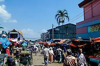 Indonesia, Java, Bogor. A busy market in the center of Bogor.