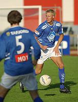 Fredrick Klock, Aalesund.<br /> <br /> Fotball: Kongsvinger - Aalesund 2-2 (5-2 e. straffer). NM 2004 herrer, 3. runde. 8. juni 2004. (Foto: Peter Tubaas/Digitalsport.