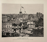 """THE PUBLIC ENTERING CITY HALL New York, August, 1885, to view the Body ok General Grant lying in State. from The American Civil War book and Grant album : """"art immortelles"""" : a portfolio of half-tone reproductions from rare and costly photographs designed to perpetuate the memory of General Ulysses S. Grant, depicting scenes and incidents in connection with the Civil War Published  in Boston and New York by W. H. Allen in 1894"""