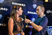 Geppi Cucciari, Paolo Citrini<br /> Presentazione Banco di Sardegna Dinamo Sassari ai Tifosi<br /> Sassari, 06/09/2018<br /> Foto L.Canu / Ciamillo-Castoria