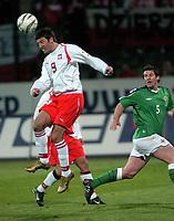 Photo. PIOTR HAWALEJ/Digitalsport<br /> Poland v Northern Ireland<br /> 30/03/2005<br /> 2006 World Cup Qualifier<br /> Poland's Maciej Zurawski