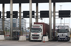 Lorries enter Dublin Tunnel where Ireland's first average speed camera enforcement system is set to go live on June 1, 2017.
