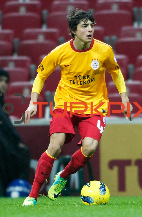 Galatasaray's Berk Yildiz during their Turkey Cup matchday 3 soccer match Galatasaray between AdanaDemirspor at the Turk Telekom Arena at Aslantepe in Istanbul Turkey on Tuesday 10 January 2012. Photo by TURKPIX