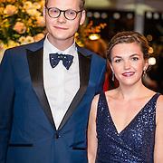 NLD/Amsterdam/20161013 - Televiziergala 2016, Luuk Ikking en partner Simone Wijnands