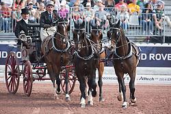Carlo Mascheroni, (ITA), Annibal, Billy, Bjorn, Freedom, Okay - Driving dressage day 2 - Alltech FEI World Equestrian Games™ 2014 - Normandy, France.<br /> © Hippo Foto Team - Dirk Caremans<br /> 05/09/14