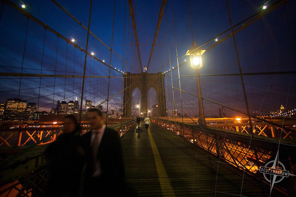 Brooklyn Bridge walk and bike way