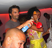 **EXCLUSIVE**.Olivier Martinez & Blu Cantrell.P. Diddy Party .VIP Room Nightclub.St. Tropez, France.Tuesday, July, 27, 2004.Photo By Celebrityvibe.com/Photovibe.com, New York, USA, Phone 212 410 5354, email:sales@celebrityvibe.com...