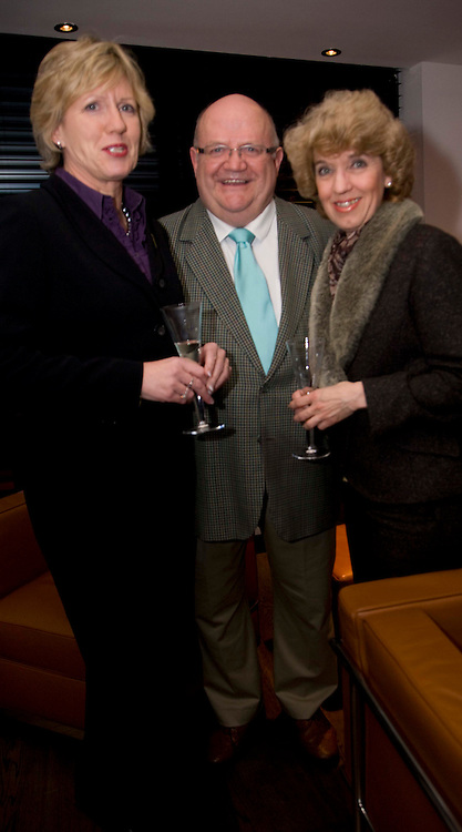 BAUHAUS OPENING... FOR TREND...PIC OF TRISH BURRELL, PETER MITCHELL AND JANETTE FORBES..LEX BALLANTYNE / NEWSLINE SCOTLAND