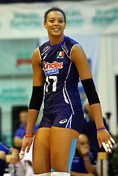 VALENTINA DIOUF<br /> ITALIA - OLANDA<br /> AMICHEVOLE NAZIONALE FEMMINILE VOLLEY<br /> JESOLO (VE) 26-07-2013<br /> FOTO FILIPPO RUBIN