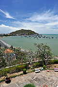 Small Mountain (Nui Nho), Hang Dua Bay, and Bai Truoc (Front Beach) viewed from Bach Dinh Palace, (the White House). Vung Tau, Vietnam