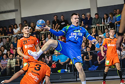 Rok Ovniček of Slovenia during friendly handball match between Slovenia and Nederland, on October 25, 2019 in Športna dvorana Hardek, Ormož, Slovenia. Photo by Blaž Weindorfer / Sportida