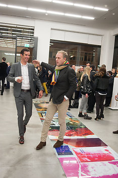 DAVID MILLAR; SIMON MILLS, Editor of Wallpaper: Tony Chambers and architect Annabelle Selldorf host drinks to celebrate the collaboration between the architect and three of Savile Row's finest: Hardy Amies, Spencer hart and Richard James. Hauser and Wirth Gallery. ( Current show Isa Genzken. ) savile Row. London. 9 January 2012.