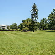 White House South Lawn. The White House South lawn, with the White House in the distance at left of frame.