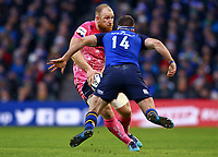 Rugby Union - 2017 / 2018 European Rugby Champions Cup - Pool Three: Leinster vs. Exeter Chiefs<br /> <br /> Exeter's Matt Kvesic in action against Leinster's Fergus McFadden, at Aviva Stadium, Dublin.<br /> <br /> COLORSPORT/KEN SUTTON