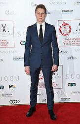 George MacKay arriving at the London Film Critics Circle Awards 2017, the May Fair Hotel, London.