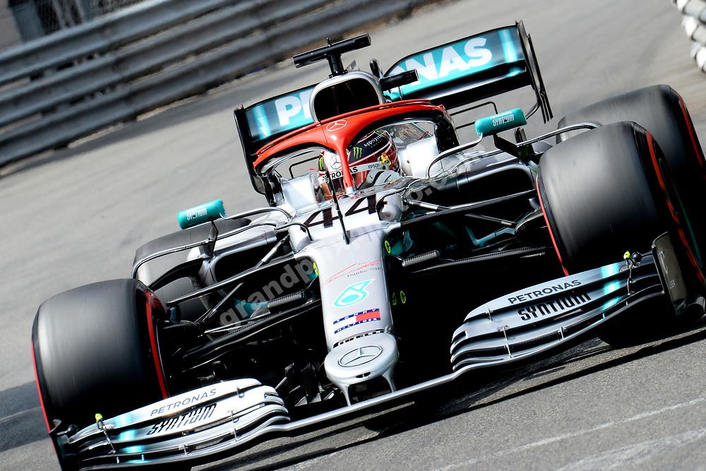 Lewis Hamilton (Mercedes) during qualifying for the 2019 Monaco Grand Prix. Photo: Grand Prix Photo