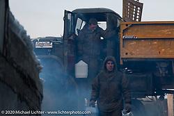 Preparing for the Baikal Mile Ice Speed Festival. Maksimiha, Siberia, Russia. Tuesday, February 25, 2020. Photography ©2020 Michael Lichter.