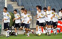 Fotball<br /> Japan<br /> 29.05.2010<br /> Graz Østerrike<br /> Foto: Gepa/Digitalsport<br /> NORWAY ONLY<br /> <br /> FIFA Weltmeisterschaft 2010 in Suedafrika, Vorberichte, IFCS Trainingslager, Nationalteam Japan, Vorbereitung, Vorbereitungsspiel, Freundschaftsspiel, Laenderspiel, England vs Japan, Abschlusstraining JPN. <br /> <br /> Bild zeigt die Mannschaft von Japan