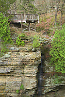 Cliffs of sandstone in Starved Rock State Park Illinois USA