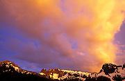 Evening clouds over the Tatoosh Range, Mount Rainier National Park, Washington