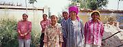 Women roadworkers, Dongtu Village, Ningxia Province, Northern China