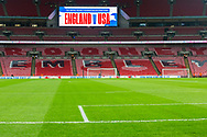 Wembley Stadium pitch prior to the international Friendly match between England and USA at Wembley Stadium, London, England on 15 November 2018.
