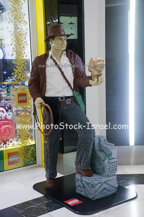 Indiana Jones (Harrison Ford) made from Lego blocks
