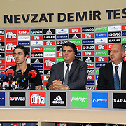 Turkish soccer team Besiktas's new player German Roberto HILBERT (2ndL) poses for media with his new jersey after the signing ceremony in Istanbul, Turkey on 22 June 2010. Besiktas signed a contract with Roberto HILBERT for three years. Photo by TURKPIX